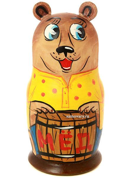 Набор матрешек Медведь, серия Животные, арт. 579Набор из 5 штук.&#13;<br>Высота - 16,5 см.<br>