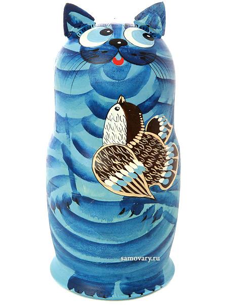 Набор матрешек Кот синий, серия Животные, арт. 574Набор из 5 штук.&#13;<br>Высота - 16,5 см.<br>