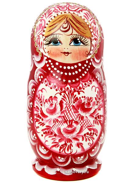Набор матрешек Русская красавица, арт. 519Набор из 5 штук.&#13;<br>Высота - 16 см.<br>