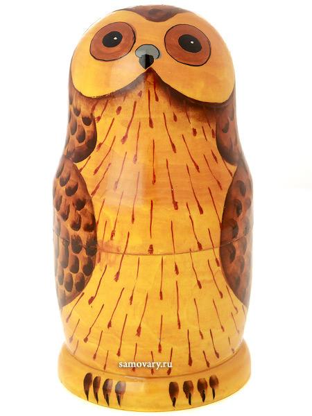 Набор матрешек Сова, серия Животные, арт. 548жНабор из 5 штук.&#13;<br>Высота - 16,5 см.<br>