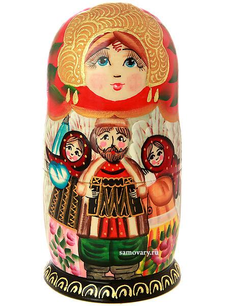 """Набор матрешек """"Ярмарка"""", серия """"Сказки"""", арт. 531 Тульские самовары"""
