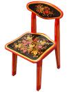 Детская мебель - стул детский с художественной росписью Хохлома, арт. 73020000000Деревянный детский стул с красочной хохломской росписью.&#13;<br>Размер: 550х300х290 мм.&#13;<br>2-ая ростовая категория.<br>