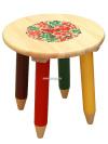 Детская мебель Хохлома - табурет детский с художественной росписью Светлячок, арт. 74070000000Деревянный табурет с красочной хохломской росписью.&#13;<br>Размер: 260х300 мм.<br>