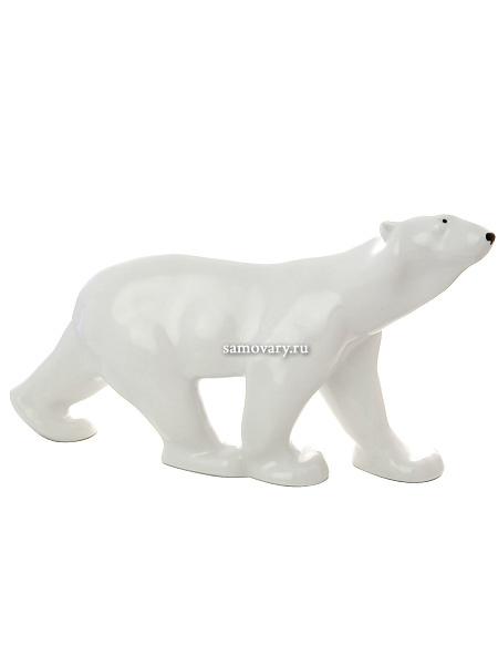 Скульптура из фарфора Медведь идущий большой размер, Императорский фарфоровый заводФарфоровая сувенирная фигурка животного.<br>