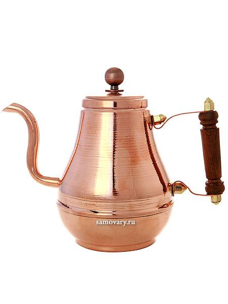 Медный заварочный чайник Москва 0,9 лЧайник из меди.&#13;<br>Объем - 900 мл.<br>
