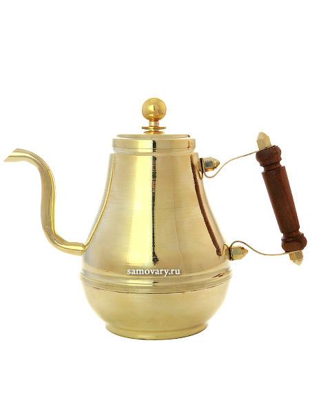Латунный заварочный чайник Москва 0,9 лЧайник из латуни.&#13;<br>Объем - 900 мл.<br>