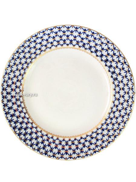 Блюдо 300 мм, рисунок Кобальтовая сетка, Императорский фарфоровый заводФарфоровое блюдо.&#13;<br>Диаметр - 30 см.<br>