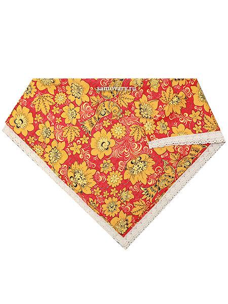 Скатерть Артель Хохлома, красно-желтая с кружевом, 150х250Размер скатерти 150*250 см. &#13;<br>Хлопок 100%. 1 Сорт.<br>