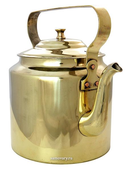 Чайник латунный 3 литра старинный, КольчугиноМатериал - латунь.&#13;<br>Объем - 3 литра.<br>
