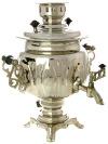 """Самовар Электрический 3 литра никелированный """"Овал"""" с термовыключателем, арт. 110301"""