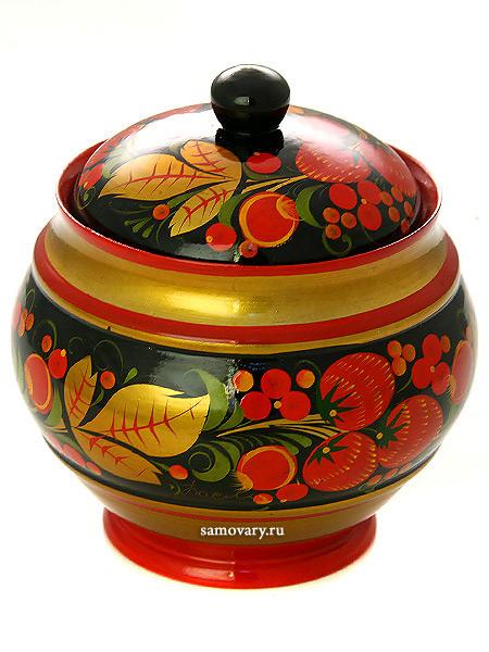 Чайница деревянная с художественной росписью Летняя, 120х110, арт.34050120110Деревянная чайница с хохломской росписью.&#13;<br>Размер чайницы - 120х110 мм.<br>