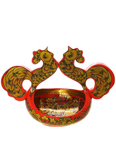 Ковш хохлома Поющие петушки арт. 10350285195Деревянный ковш с хохломской росписью.<br>Размеры - 285х195х400 мм.<br>