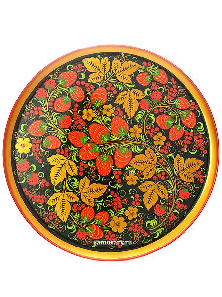 Тарелка-панно хохлома Летняя 400Х20, арт.2Деревянная тарелка-панно с хохломской росписью.&#13;<br>Размер - 400х20 мм.<br>