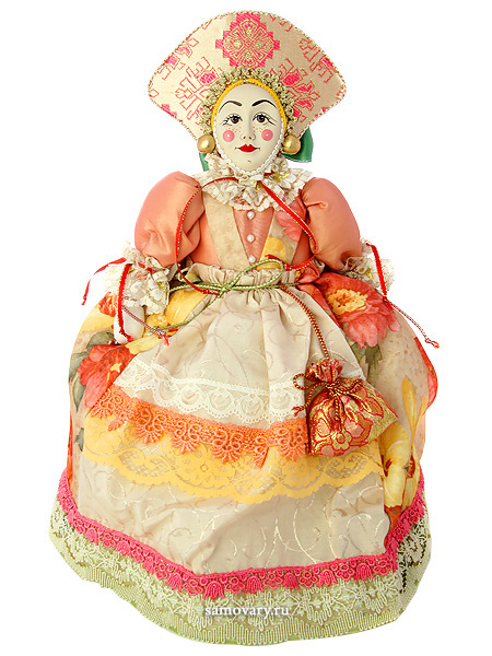 Кукла на чайник Агриппина, арт. 20Кукла тряпичная декоративная на заварочный чайник.<br>