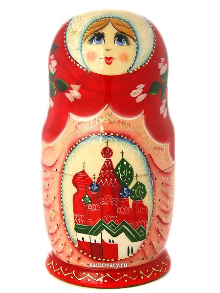 """Набор матрешек """"Москва"""", арт. 580 Тульские самовары"""