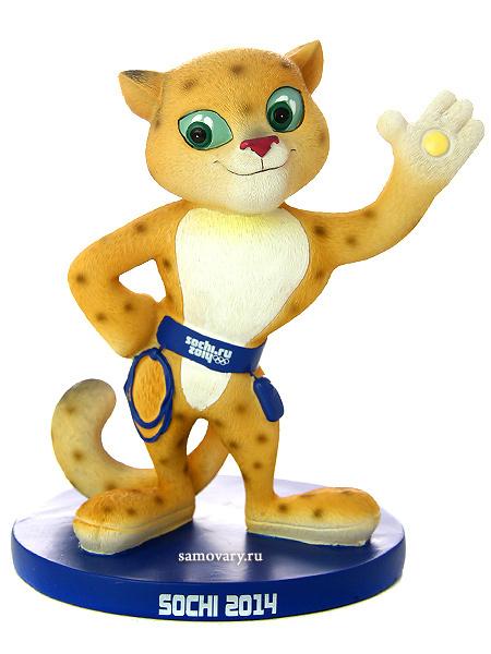 Олимпийский сувенир Сочи 2014 Талисман Леопард, 16,5 смСувенир Сочи 2014.&#13;<br>Высота - 16,5 см.<br>