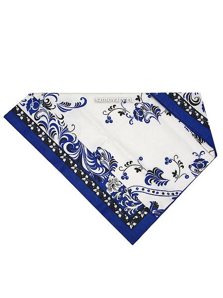 Скатерть Петух, синяя без кружева, 150х180Размер скатерти 150*180 см. <br>Хлопок 100%. 1 Сорт.<br>