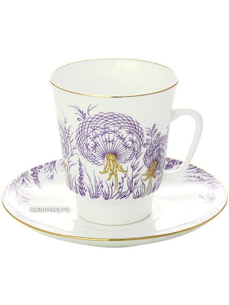 Чашка с блюдцем чайная форма