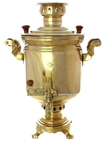 Электрический самовар 10 литров желтый цилиндр Традиционный, арт. 111039Латунный самовар традиционной формы для чаепития большой компанией.<br>