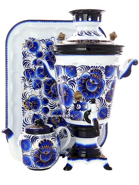 Набор самовар электрический 4 литра с художественной росписью