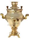 """Электрический самовар 3 литра желтый \""""конус-тюльпан\"""", арт. 120340"""