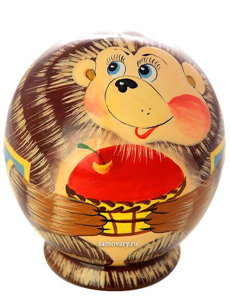 Набор матрешек Ежик,круглый, серия Животные, арт. 555Набор из 5 матрешек.<br>Высота - 9 см.<br>