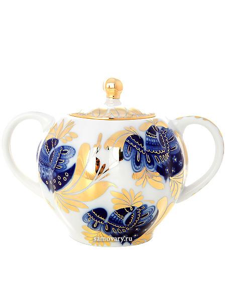 Сахарница форма Тюльпан, рисунок Золотой сад, Императорский фарфоровый заводФарфоровая сахарница.&#13;<br>Объем - 450 мл.<br>