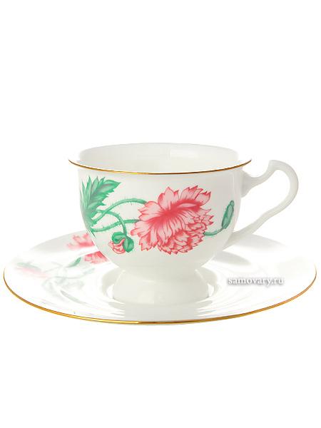 Чашка с блюдцем чайная форма Айседора, рисунок Олимпия, Императорский фарфоровый заводФарфоровая чайная пара.&#13;<br>Объем - 240 мл.<br>