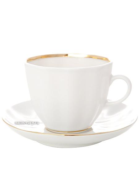 Кофейная чашка с блюдцем форма Тюльпан рисунок Белоснежка, Императорский фарфоровый заводФарфоровая кофейная пара.&#13;<br>Объем чашки - 140 мл.<br>