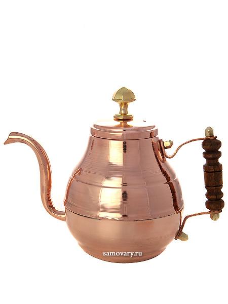 Медный заварочный чайник Москва 0,7 лЧайник из меди.&#13;<br>Объем - 700 мл.<br>