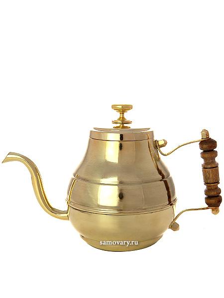 Латунный заварочный чайник Москва 0,7 лЧайник из латуни.<br>Объем - 700 мл.<br>