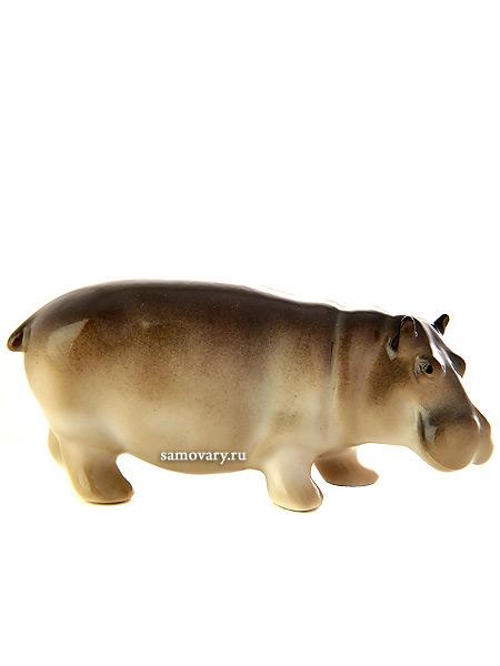 Скульптура Бегемотик Матильда, Императорский фарфоровый заводФарфоровая сувенирная фигурка животного.<br>