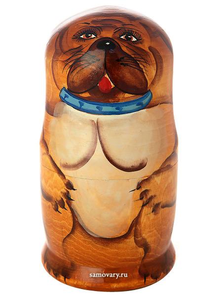 Набор матрешек Боксер, серия Животные, арт. 598Набор из 5 штук.&#13;<br>Высота - 16,5 см.<br>