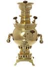 Угольный самовар 1 литр желтый шар двухподдувальный, произведен в конце XIX века, фабрика неизвестна, арт.433341Антикварный латунный самовар конца XIX века.&#13;<br>Отреставрирован тульскими мастерами и готов к эксплуатации.<br>
