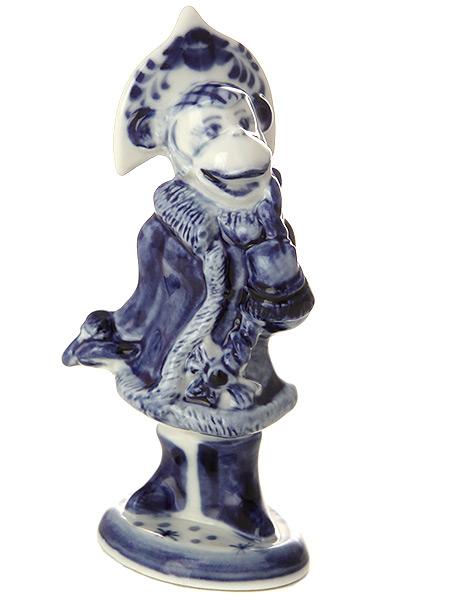 Скульптура Снегурочка ГжельСкульптура керамическая с художественной росписью.&#13;<br>Символ наступающего 2016 года.<br>