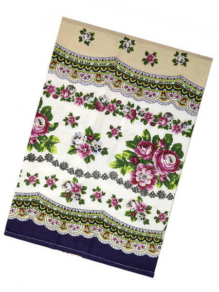 Полотенце Цветы на бежевом без кружева, 45х75Размер полотенца - 45*75 см. <br>Хлопок 100%.<br>