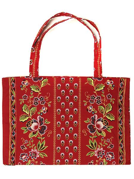 Сумка Ализарин красный, 32х42Хлопковая сумка на петлевых ручках<br>