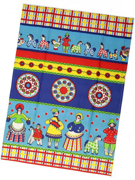Полотенце Дымковская игрушка синее без кружева, 45х75Размер полотенца - 45*75 см. &#13;<br>Хлопок 100%. 1 Сорт.<br>
