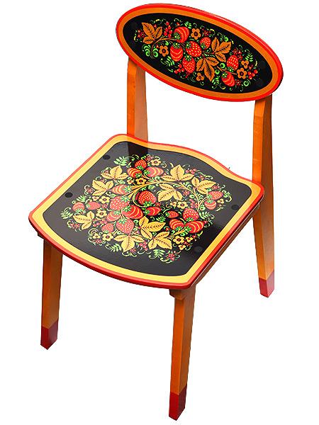 Детская мебель - стул детский с художественной росписью Хохлома, арт. 73040000000