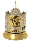 Подстаканник для чая с позолотой Символ года 2016 - ОбезьянаЛатунный подстаканник с позолоченным покрытием.&#13;<br>Символ 2016 года.<br>