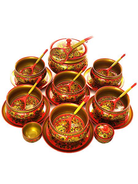 Набор для супа Торжество 22 предметаДеревянный набор для супа из 22 предметов.<br>