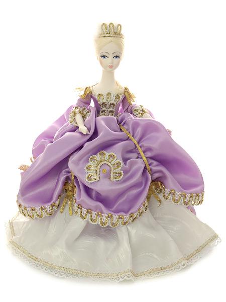 Кукла на чайник Елизавета в сиреневомКукла тряпичная декоративная на заварочный чайник.<br>
