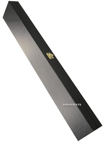 Футляр под кинжал черного цветаФутляр с ручкой на застежке.<br>Велюровая подложка.<br>