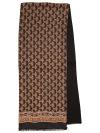 Павлопосадское мужское кашне Босс, 27*140 см, арт. 1297-18Мужской шарф из шелка с шерстяной подкладкой.&#13;<br>Размер 27х140 см.<br>