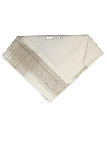 Скатерть Артель бежево-белая с мережкой, 170х255Размер скатерти 170*255 см. &#13;<br>Хлопколен.<br>