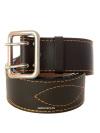 Ремень кожаный коричневый двухшпеньковыйРемень из натуральной прессованной кожи.<br>