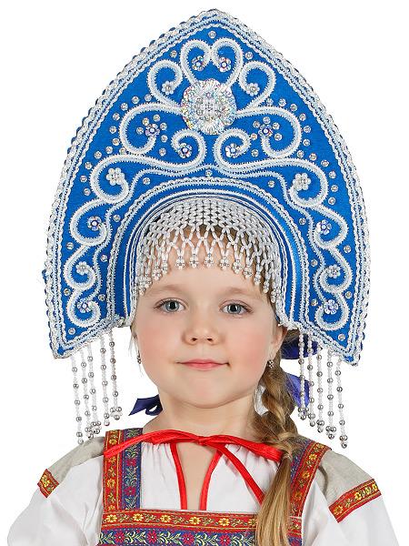 Кокошник Купола синийСимвол традиционного русского костюма.<br>