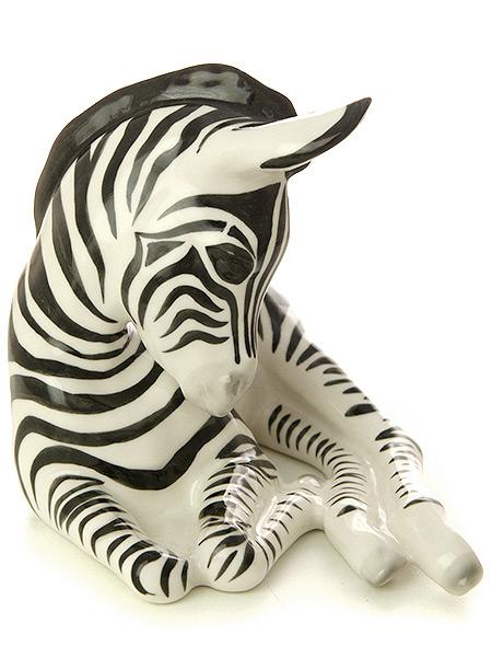 Скульптура Зебра, Императорский фарфоровый заводФарфоровая сувенирная фигурка животного.<br>
