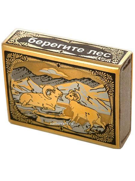 Футляр для спичек с гравюрой Бараны ЗлатоустФутляр для спичек позолоченный с гравюрой.&#13;<br>Ручная работа.<br>