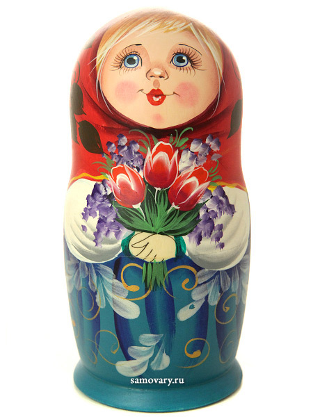 """Набор матрешек """"Машенька с цветами"""", арт. 6000 Сергиев Посад"""